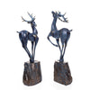 European style Resin Deer Figurine Statue (Set of 2)