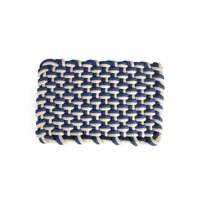 Modern Knot Home Floor Mat (Blue)