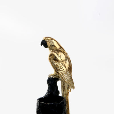 Golden Parrot Candle Holder