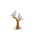 Abstract Sparrows Ornament  ( Gold & White)