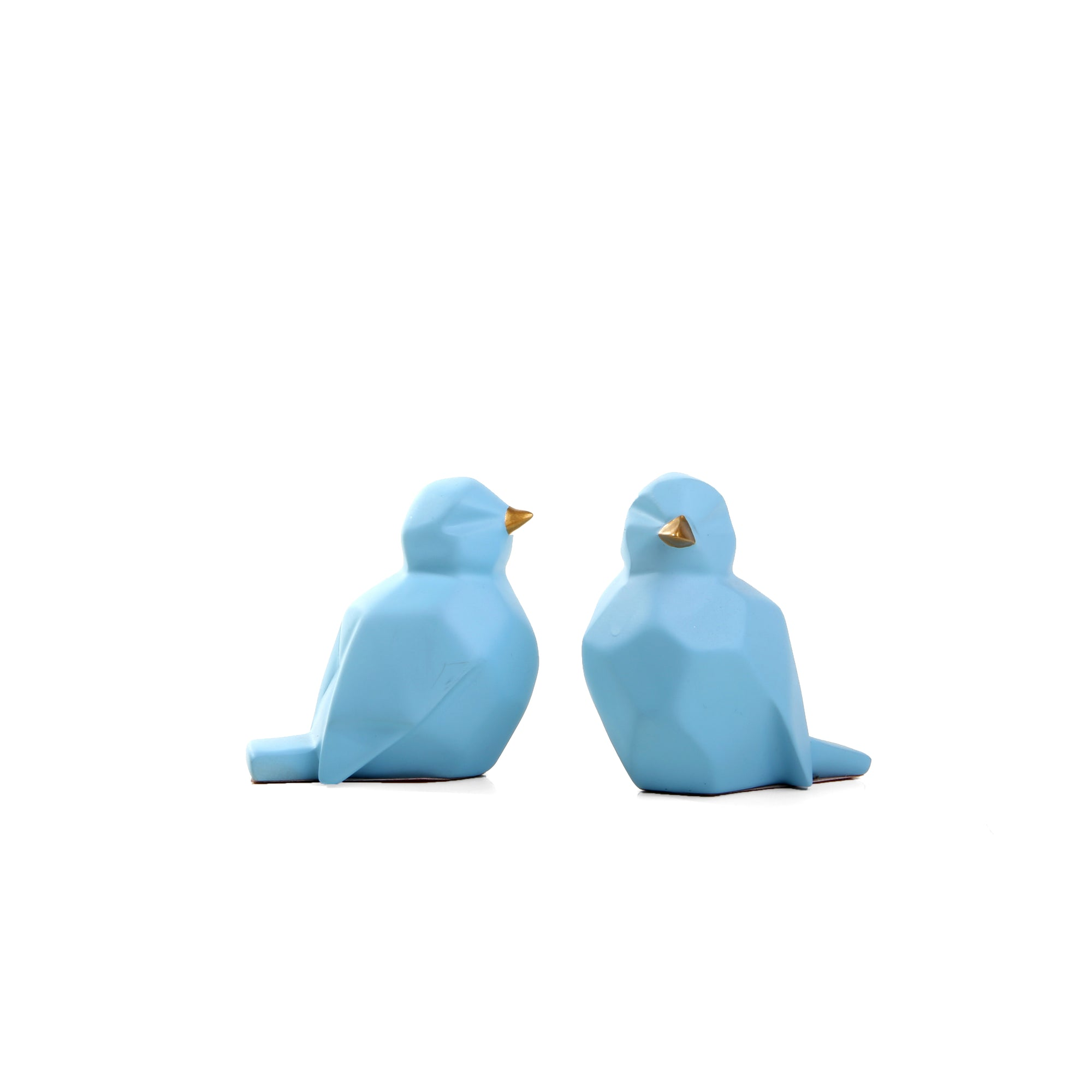 Abstract Sparrow Pair Ornament  (Blue)