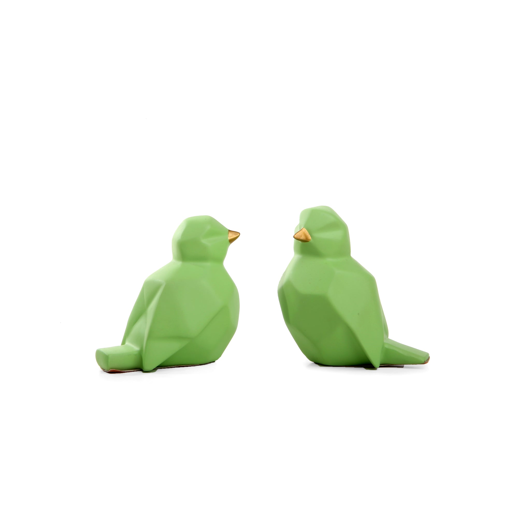 Abstract Sparrow Pair Ornament  (Green)