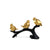 Abstract Sparrow 3-P Ornament  (Black & Gold)