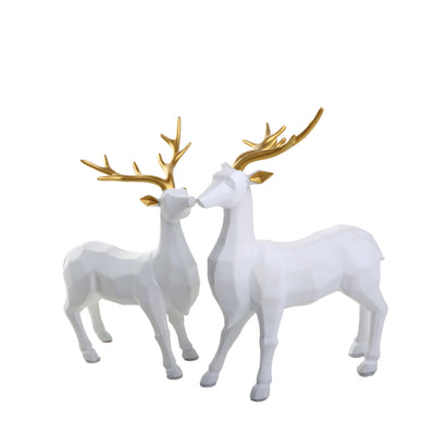 Abstract Deer Pair Ornament