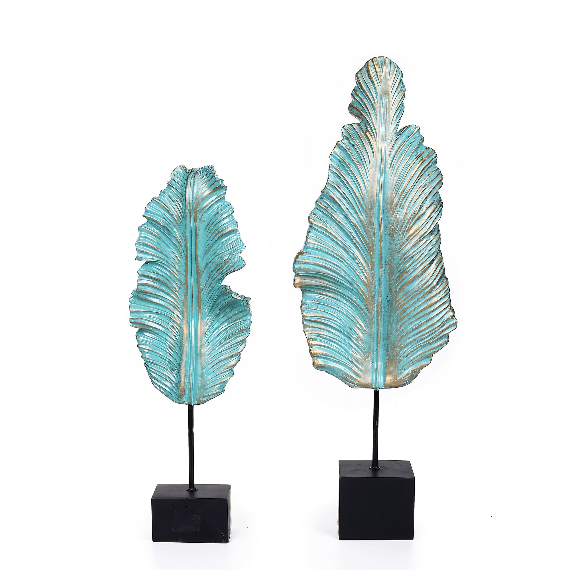 Leafs Sculptures (Set Of 2)