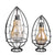 Half Oval Metal LED Hanging Bulb