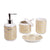 Gold & White Design Reflective Bath Set