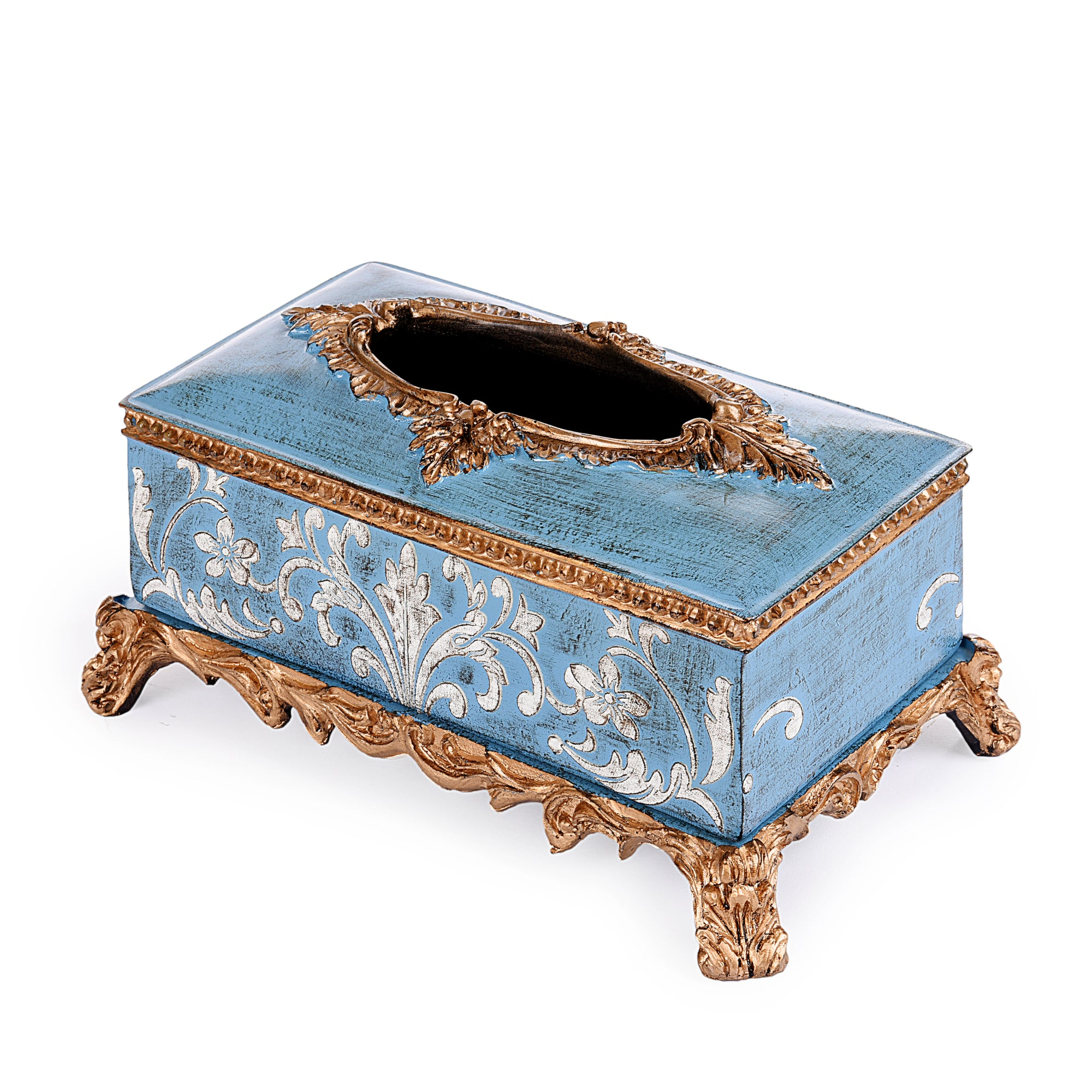 Royal Floral Design Tissue Box