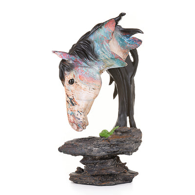 Multi-colors contemporary Horse sculpture