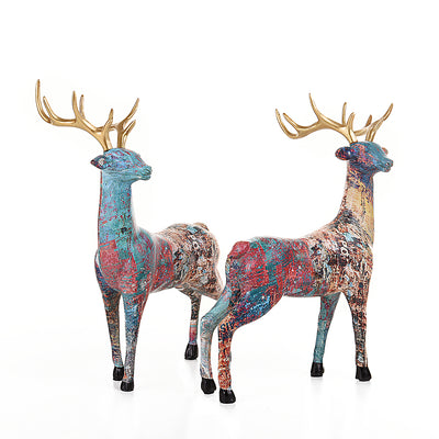 Modern Creative Resin Deer Statue Figurines