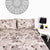 Round Balls Design Bed Sheet With Pillows