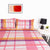 Multi Blocks Design Bed Sheet With Pillows