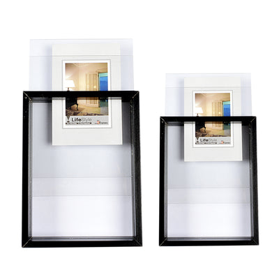 Dual Mirror Wooden Design Photo Frame