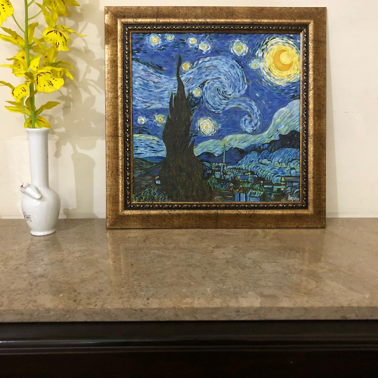 The Starry Night Wall Painting