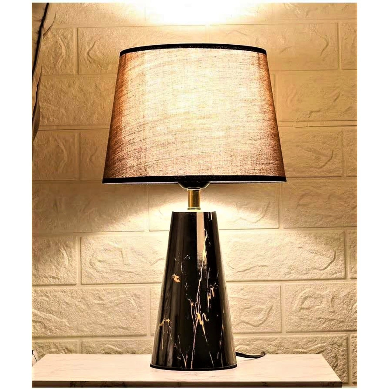 Black Marble Taxture Table/Desk Lamp