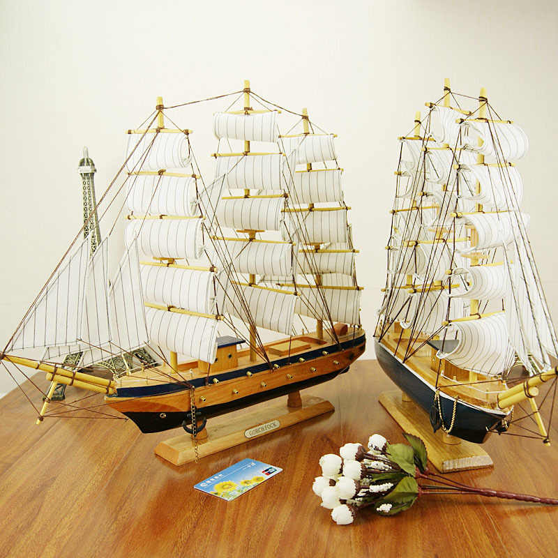 Decor Passat Tall Ship Detailed Wooden Model