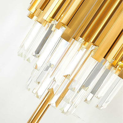 Golden Bars Crystal Bars Table Lamp