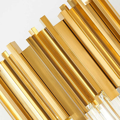 Gold Bars Crystal Bars Floor Lamp