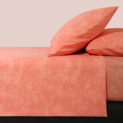 Orange Textured Percale Bedsheet