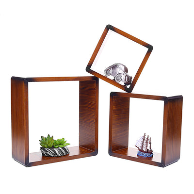 Decorative Wall Hanging Wooden Shelves (Set of 3)