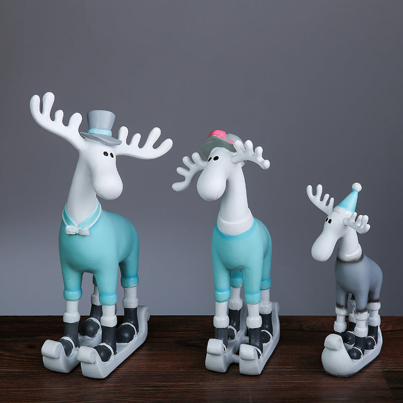 Cartoon Deer Figurine (Set of 3)