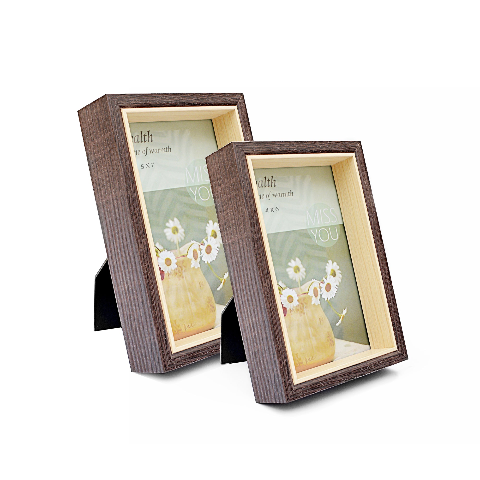 Dark Brown Natural Wooden Photo Frame