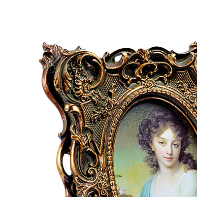 Royal Wooden Design Oval Photo Frame