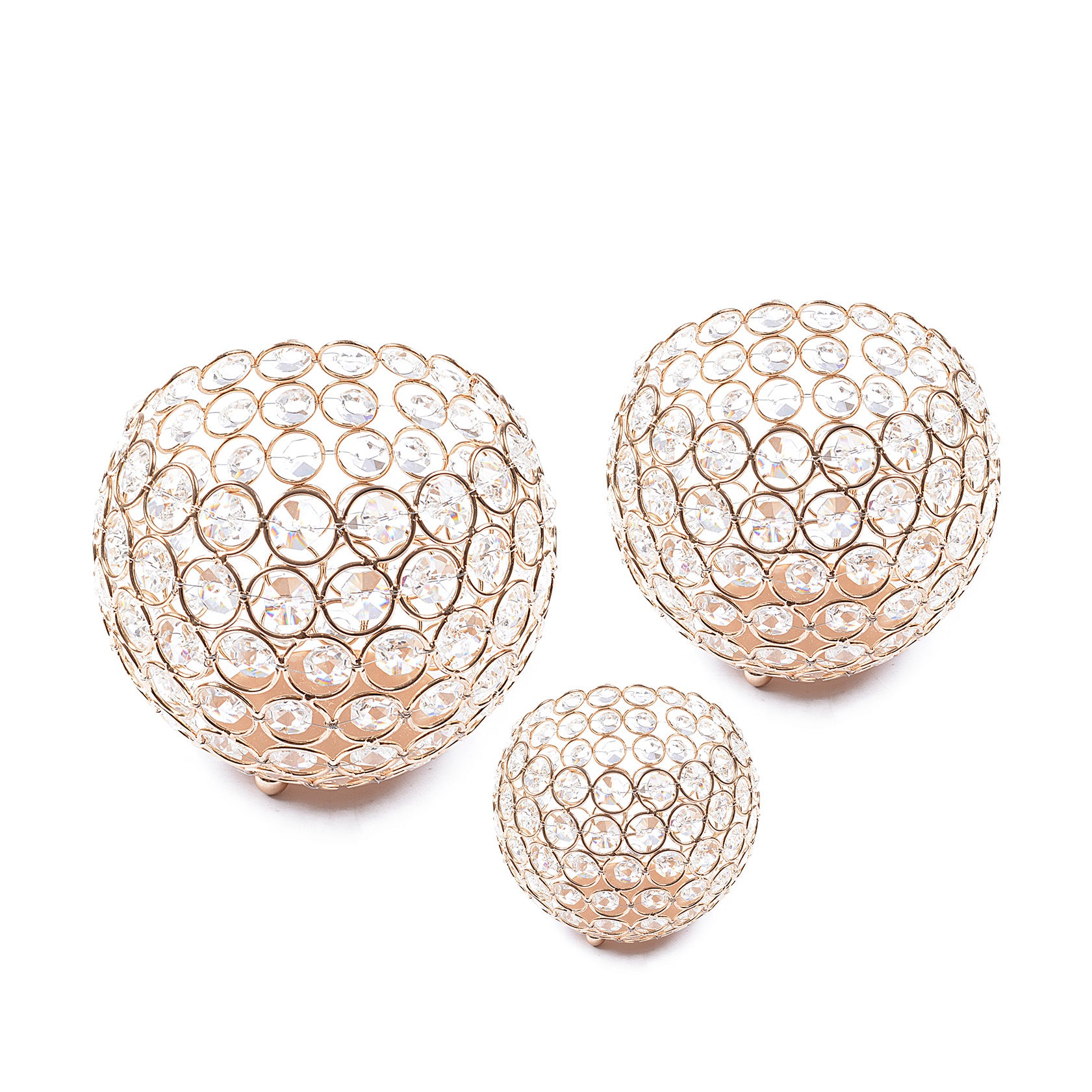 Wedding Gift Gold Crystal Bowl (Set of 3)