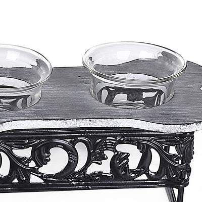 Metal Design Candle Holders (Set Of 3)