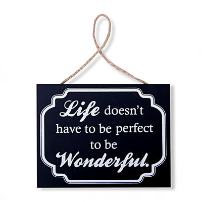 Wonderful Life Wall Quotations (Black)