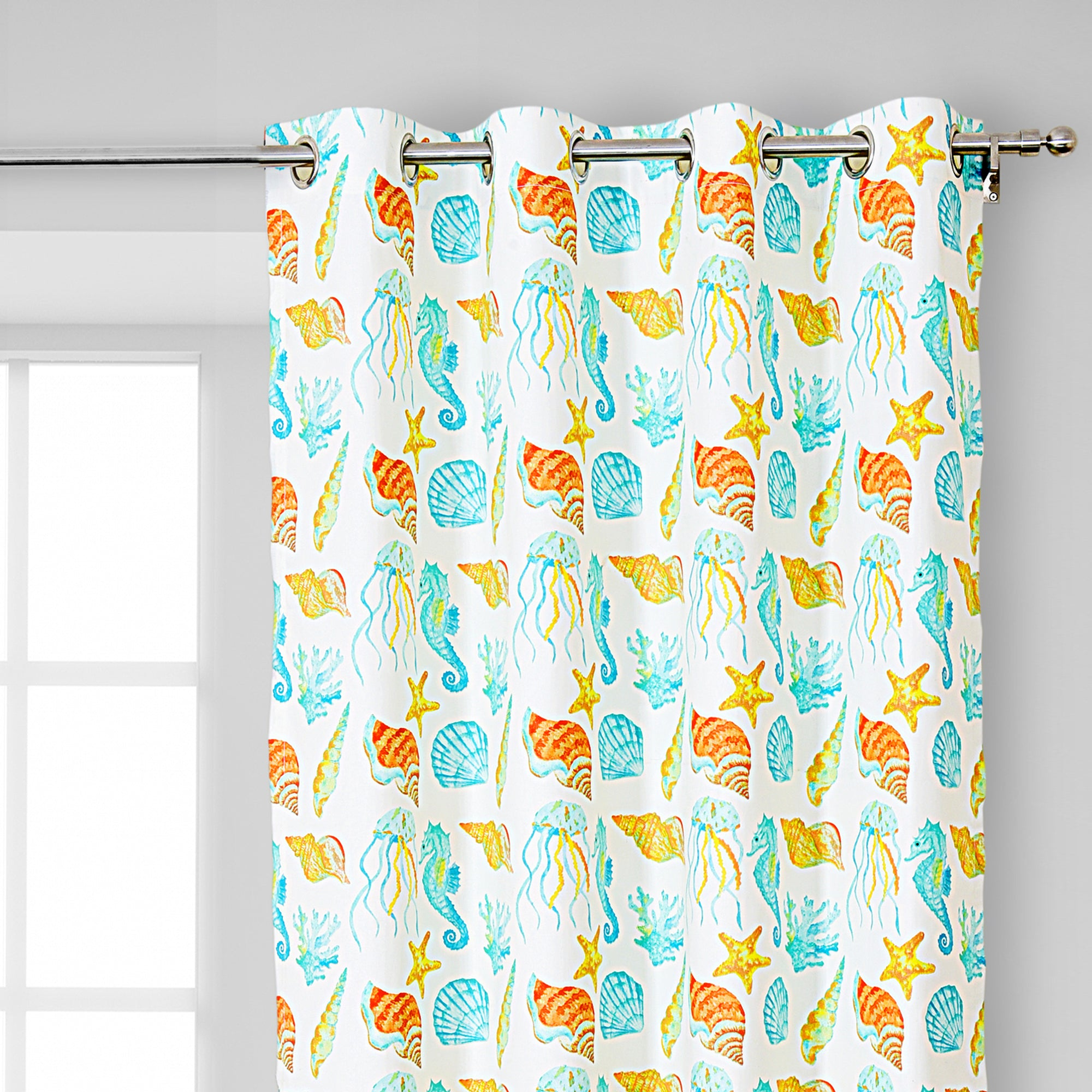 Deep sea creature Design Curtain Pair