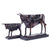 Modern Abstract Fortune Cow Statue Resin Table Sculpture (Set Of 2)