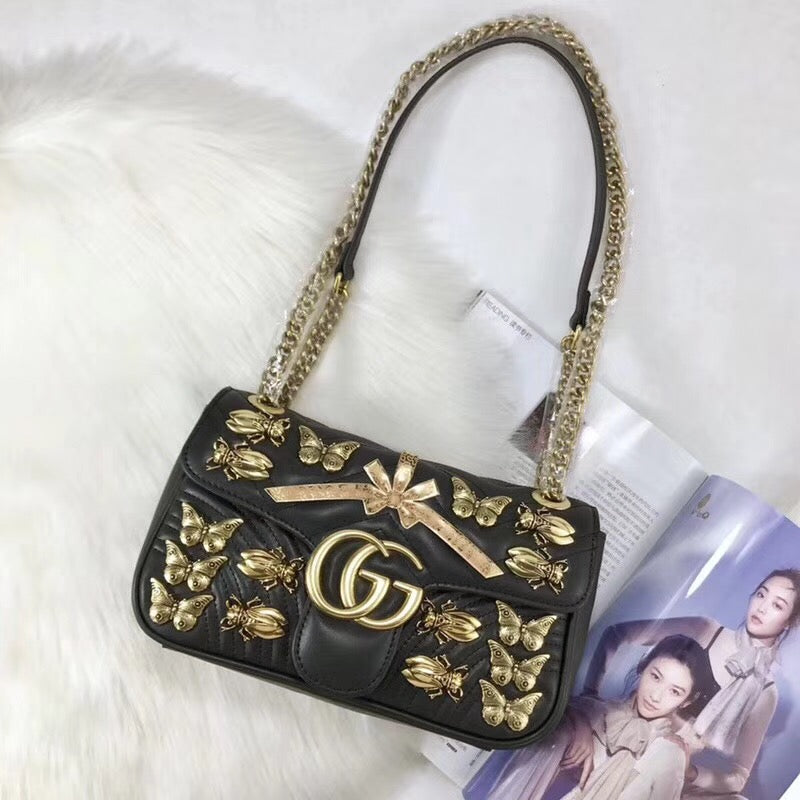 e990c621bf34a6 Gucci Marmont Insects Premium 26*15*7 cm – Look at my bags