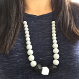 The Elaine - Silicone Teething Necklace for Mom -  Nursing Jewelry