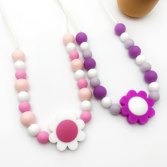 Silicone Necklace for Girls - Toddler Sensory Jewelry