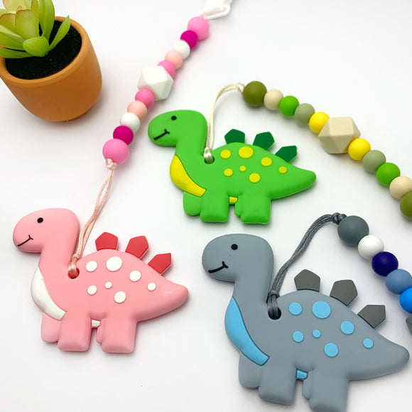 Dinosaur Teether || Clip on