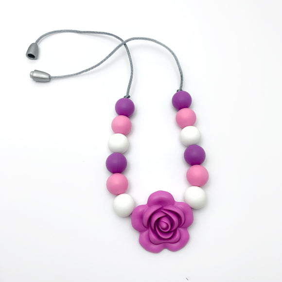 Spring Flower Toddler Necklace - Sensory Jewelry