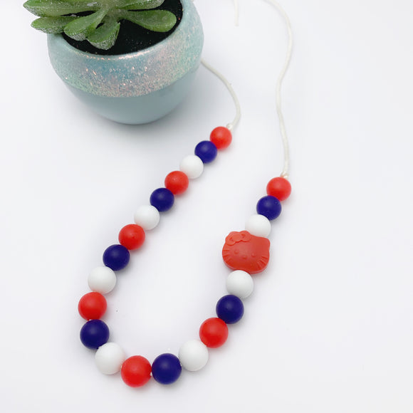 Kitty Silicone Necklace - Chewlery