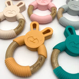 Bunny || Silicone Wood Teething Ring