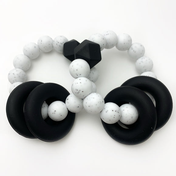 Monochrome Teething Ring - Freezer Teether