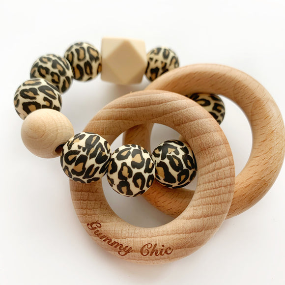 Leopard || Chic Teether Rattle
