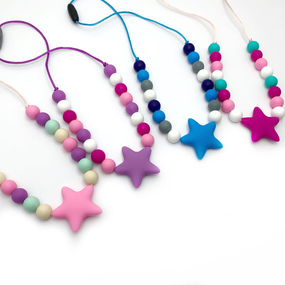 star silicone chew necklace
