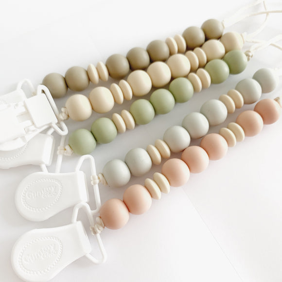 Boho neutral Silicone Pacifier Clip - Dummy  Clip
