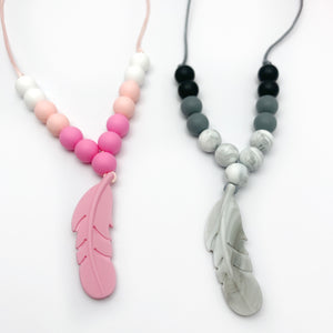 feather sensory necklace