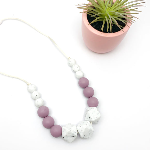 Speckled Mauve Necklace