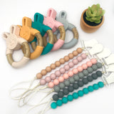 Beaded Silicone Pacifier Clip