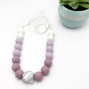Mauve and Marble Necklace