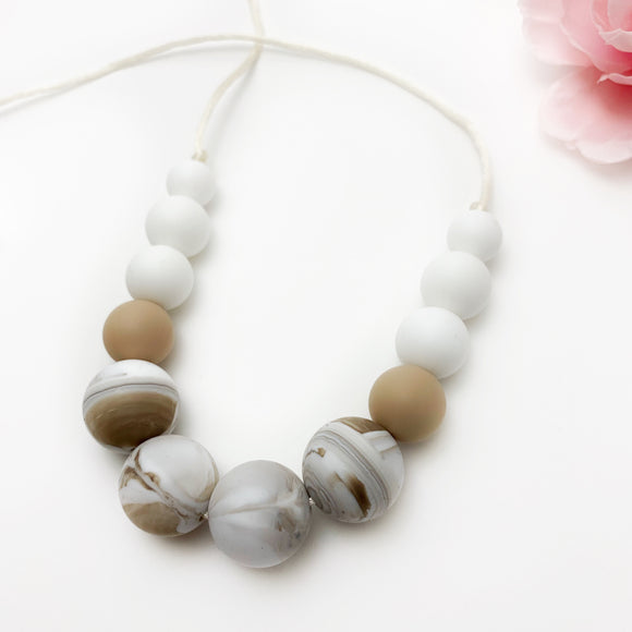 The Camila - Silicone Teething Necklace for Mom - Nursing Necklace