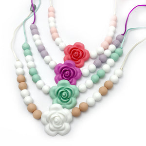 flower sensory silicone necklace