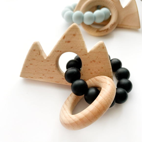 Mountain || Natural Wood Teether